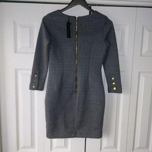 NWT Dynamite dark grey long sleeve dress Size M